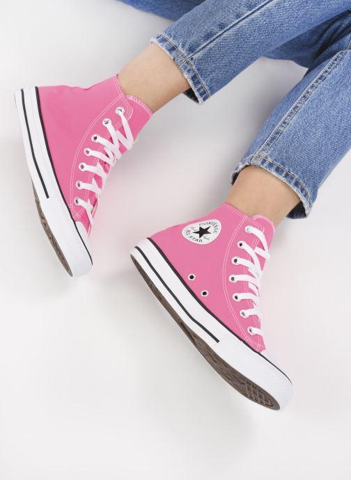 Sneaker Converse Chuck Taylor All Star Seasonal Color Hi W rosa ansicht von unten / tasche getragen