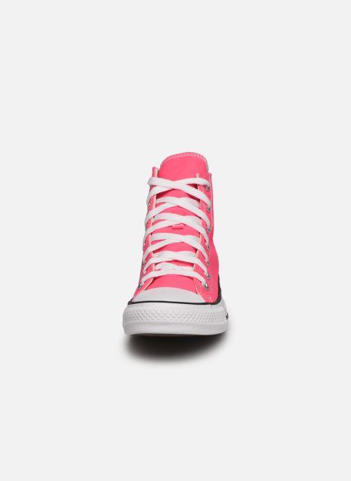 Sneaker Converse Chuck Taylor All Star Seasonal Color Hi W rosa schuhe getragen