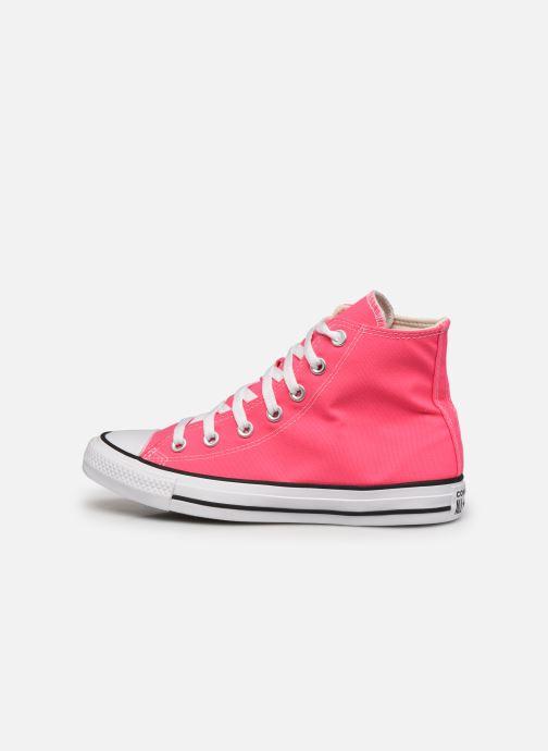 Sneaker Converse Chuck Taylor All Star Seasonal Color Hi W rosa ansicht von vorne