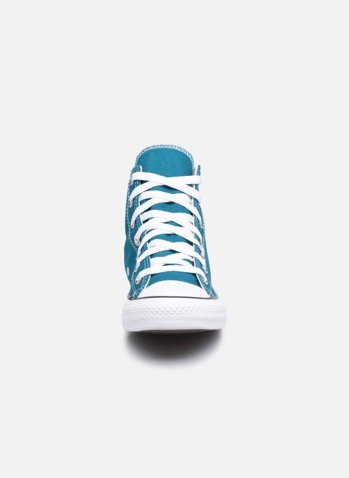 Baskets Converse Chuck Taylor All Star Seasonal Color Hi W Bleu vue portées chaussures