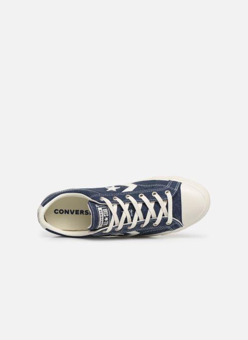 Sneaker Converse Star Player Sun Backed Ox blau ansicht von links