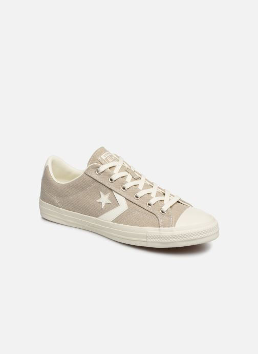 Trainers Converse Star Player Sun Backed Ox Grey detailed view/ Pair view