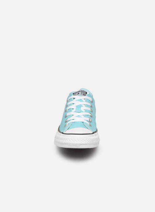 Baskets Converse Chuck Taylor All Star Seasonal Color Extension Ox Bleu vue portées chaussures
