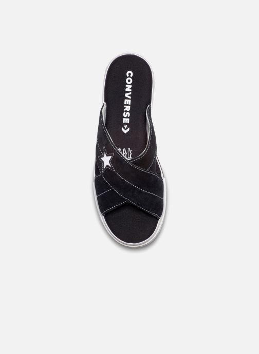 Zuecos Converse One Star Sandal Sandalism Slip Negro vista de frente