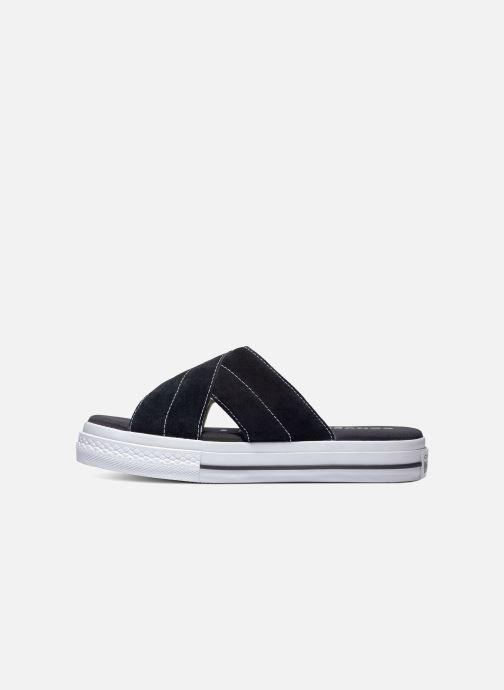 Chanclas Converse One Star Sandal Sandalism Slip Negro vista lateral derecha
