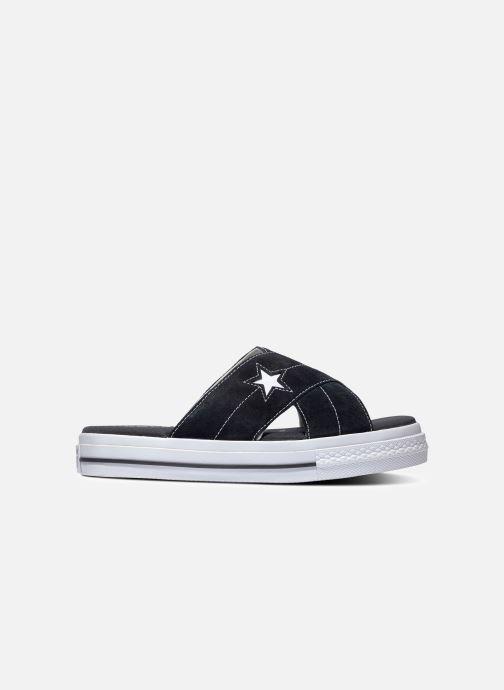 Zuecos Converse One Star Sandal Sandalism Slip Negro vista de detalle / par