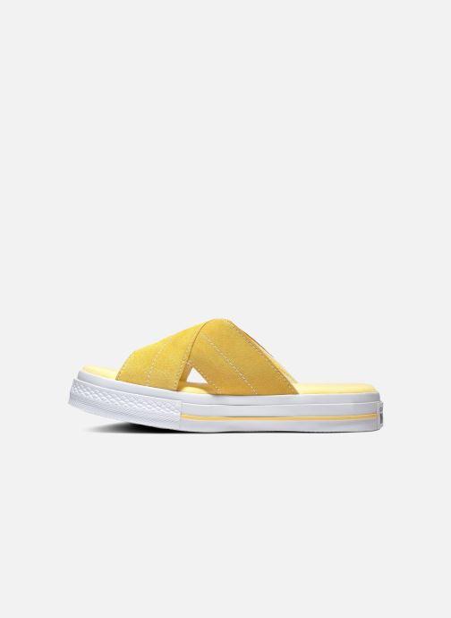 Tongs Converse One Star Sandal Sandalism Slip Jaune vue droite