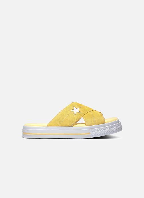 Tongs Converse One Star Sandal Sandalism Slip Jaune vue détail/paire