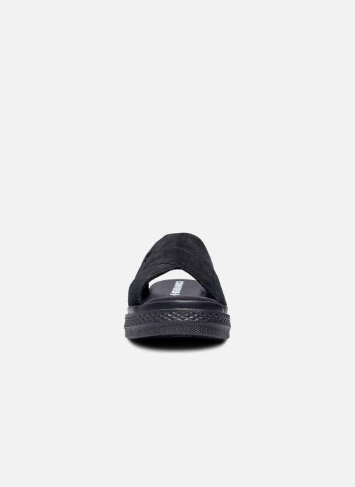 Zuecos Converse One Star Sandal Sandalism Slip Negro vista del modelo
