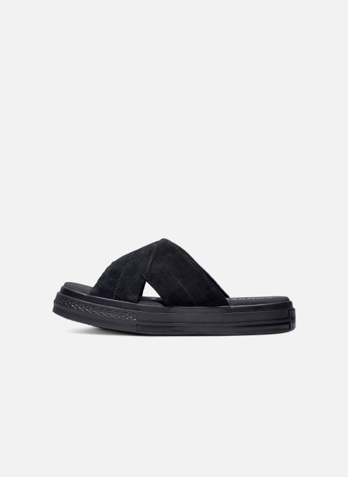Zuecos Converse One Star Sandal Sandalism Slip Negro vista lateral derecha