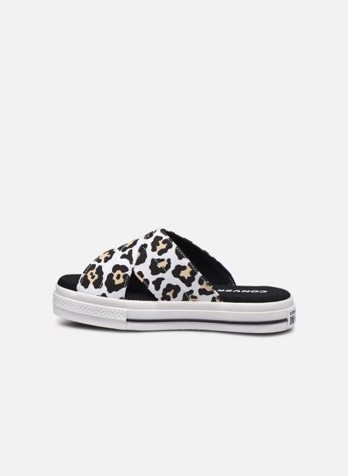 Zuecos Converse One Star Sandal Sandalism Slip Blanco vista de frente