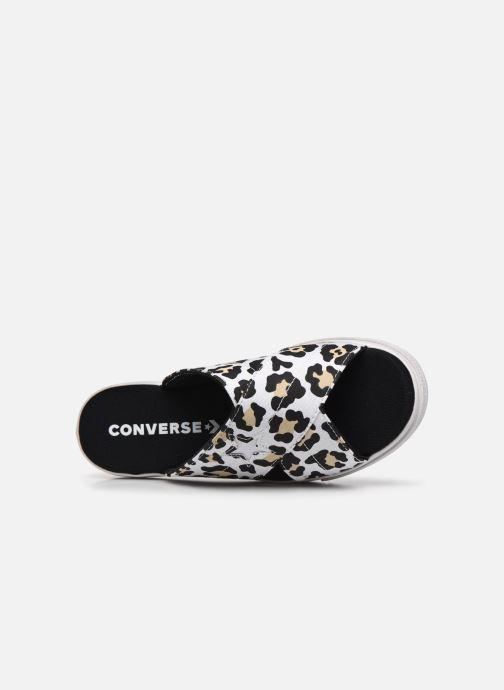 Zuecos Converse One Star Sandal Sandalism Slip Blanco vista lateral izquierda