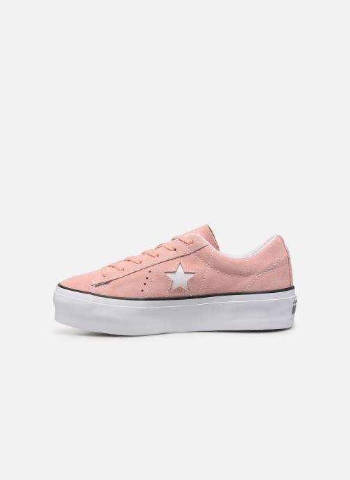 Sneakers Converse One Star Platform Seasonal Color Ox Roze voorkant