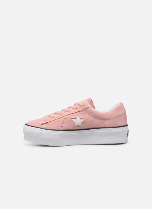 Deportivas Converse One Star Platform Seasonal Color Ox Rosa vista de frente