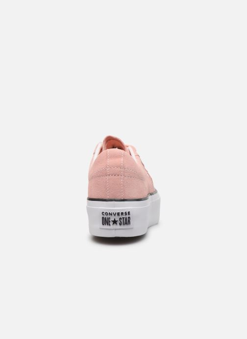 Deportivas Converse One Star Platform Seasonal Color Ox Rosa vista lateral derecha