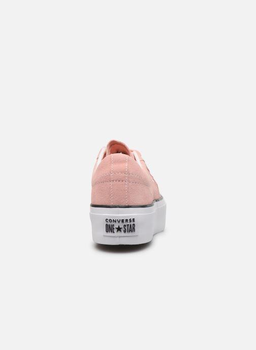 Sneakers Converse One Star Platform Seasonal Color Ox Roze rechts
