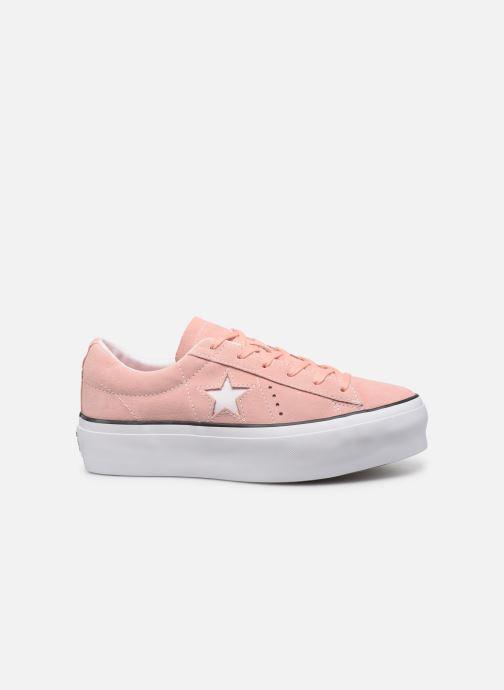 Sneakers Converse One Star Platform Seasonal Color Ox Roze achterkant