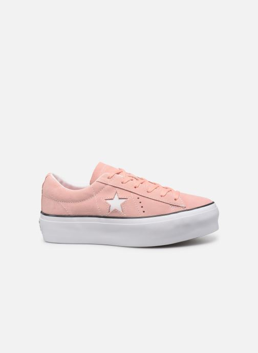 Deportivas Converse One Star Platform Seasonal Color Ox Rosa vistra trasera