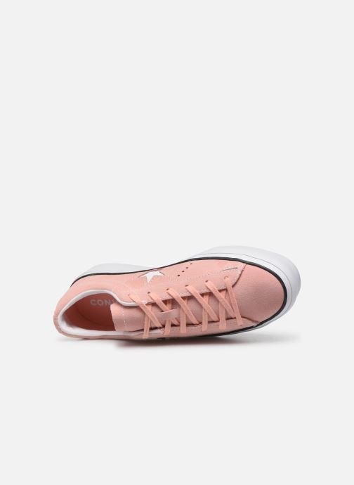 Deportivas Converse One Star Platform Seasonal Color Ox Rosa vista lateral izquierda