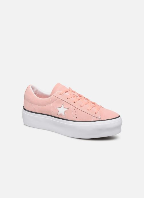 Deportivas Converse One Star Platform Seasonal Color Ox Rosa vista de detalle / par