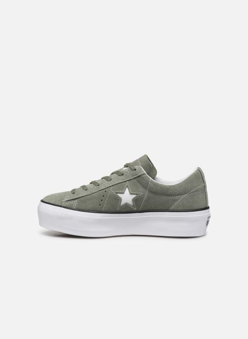 Trainers Converse One Star Platform Seasonal Color Ox Green front view