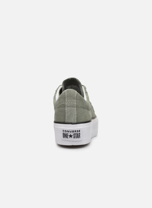 Trainers Converse One Star Platform Seasonal Color Ox Green view from the right