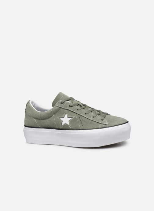 Trainers Converse One Star Platform Seasonal Color Ox Green back view