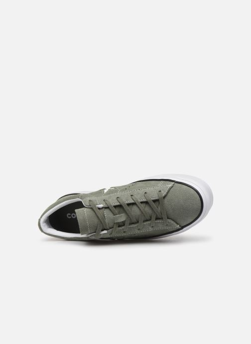 Trainers Converse One Star Platform Seasonal Color Ox Green view from the left