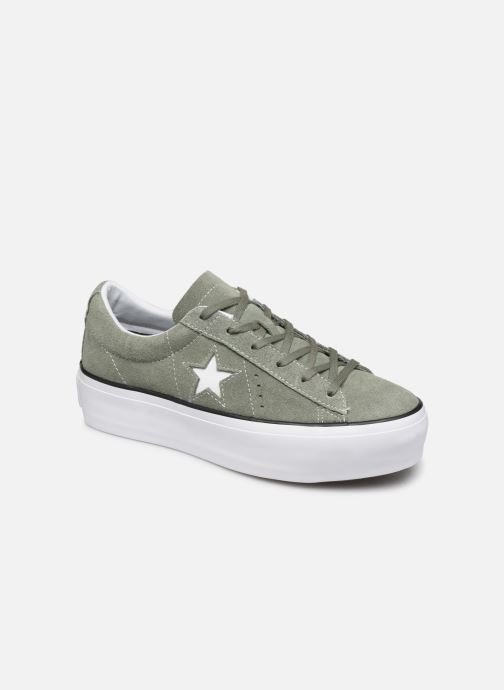 Trainers Converse One Star Platform Seasonal Color Ox Green detailed view/ Pair view