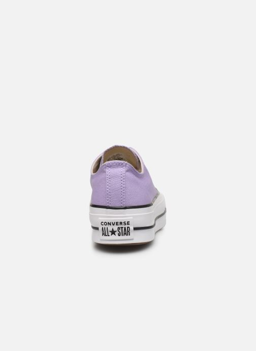 Trainers Converse Chuck Taylor All Star Lift Seasonal Color Ox Purple view from the right