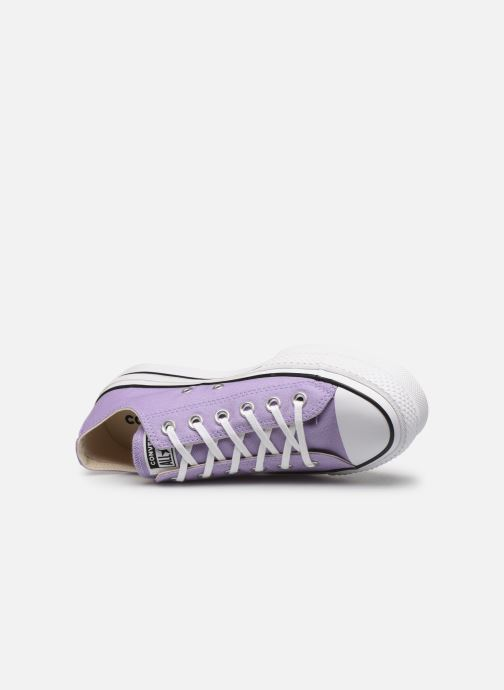 Trainers Converse Chuck Taylor All Star Lift Seasonal Color Ox Purple view from the left