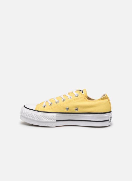 Sneaker Converse Chuck Taylor All Star Lift Seasonal Color Ox gelb ansicht von vorne
