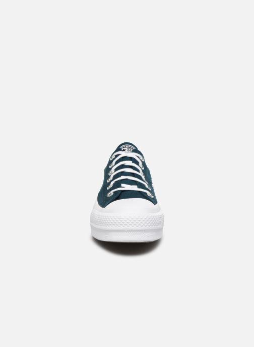 Baskets Converse Chuck Taylor All Star Lift Seasonal Color Ox Bleu vue portées chaussures