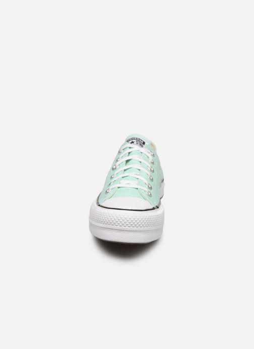 Baskets Converse Chuck Taylor All Star Lift Seasonal Color Ox Vert vue portées chaussures