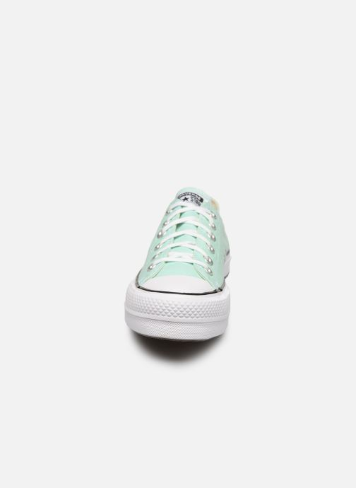 Baskets Converse Chuck Taylor All Star Lift Seasonal Color Ox Vert vue portées chaussures