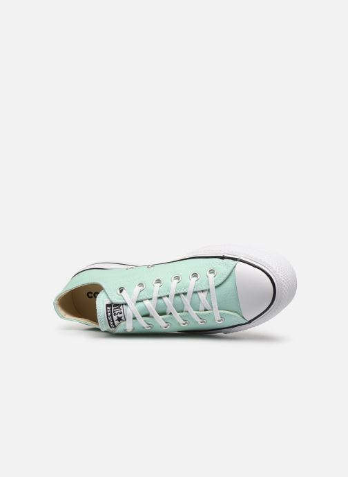 Sneakers Converse Chuck Taylor All Star Lift Seasonal Color Ox Verde immagine sinistra