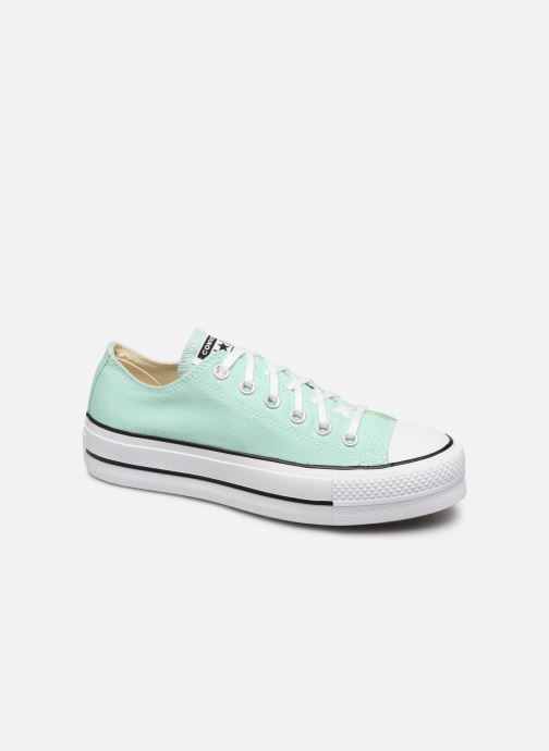 Baskets Converse Chuck Taylor All Star Lift Seasonal Color Ox Vert vue détail/paire