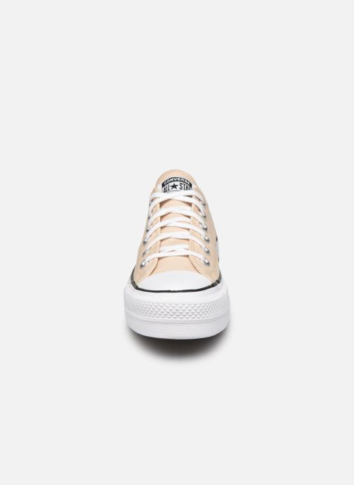 Baskets Converse Chuck Taylor All Star Lift Seasonal Color Ox Beige vue portées chaussures