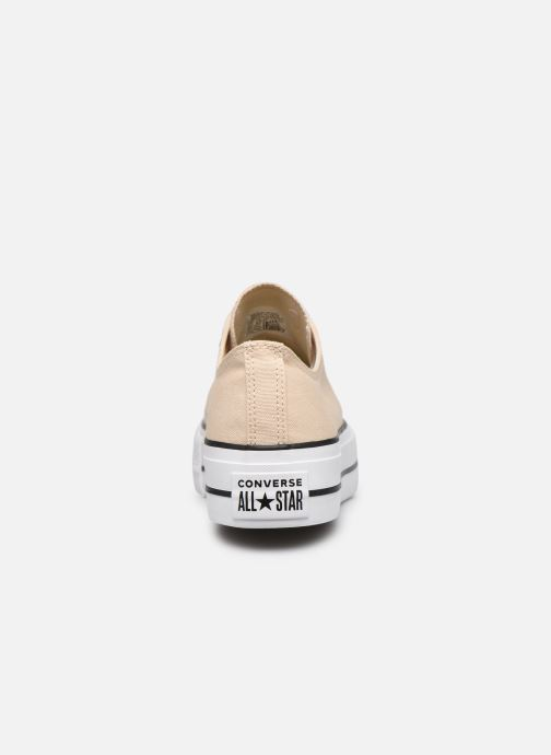 Baskets Converse Chuck Taylor All Star Lift Seasonal Color Ox Beige vue droite