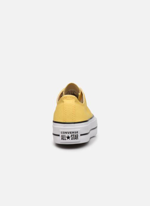Sneaker Converse Chuck Taylor All Star Lift Seasonal Color Ox gelb ansicht von rechts