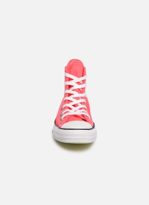 Baskets Converse Chuck Taylor All Star See Thru Hi Rose vue portées chaussures