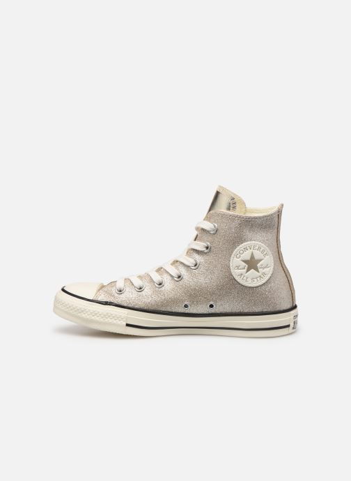 Baskets Converse Chuck Taylor All Star Shiny Metal Hi Or et bronze vue face