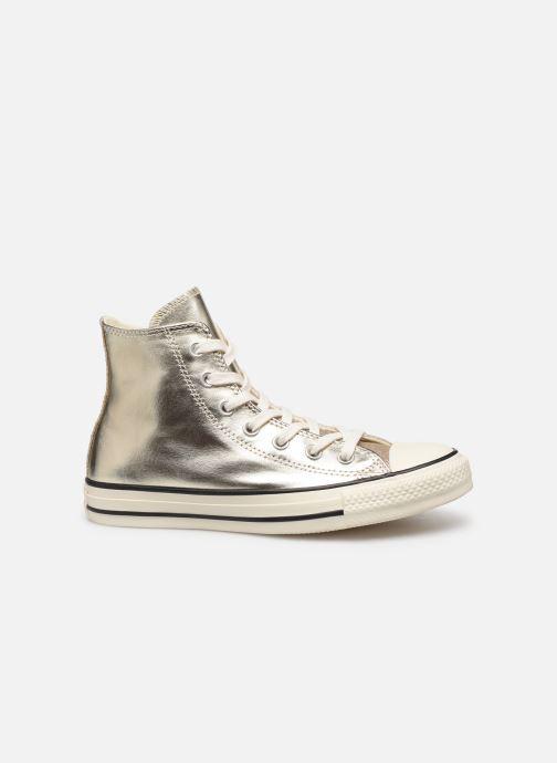 Baskets Converse Chuck Taylor All Star Shiny Metal Hi Or et bronze vue derrière