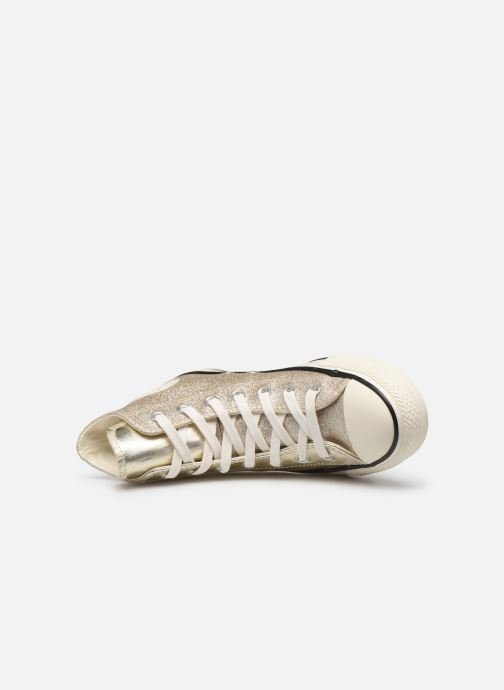 Sneakers Converse Chuck Taylor All Star Shiny Metal Hi Goud en brons links
