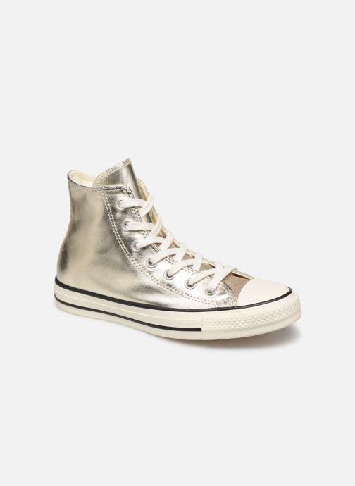 Baskets Converse Chuck Taylor All Star Shiny Metal Hi Or et bronze vue détail/paire