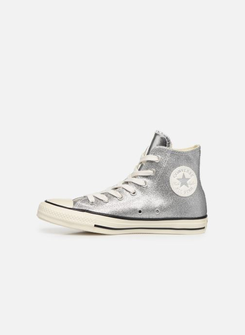 Trainers Converse Chuck Taylor All Star Shiny Metal Hi Silver front view