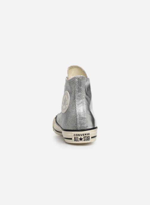 Sneaker Converse Chuck Taylor All Star Shiny Metal Hi silber ansicht von rechts