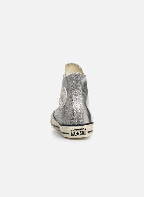 Trainers Converse Chuck Taylor All Star Shiny Metal Hi Silver view from the right
