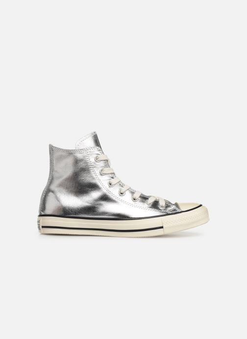 Sneaker Converse Chuck Taylor All Star Shiny Metal Hi silber ansicht von hinten