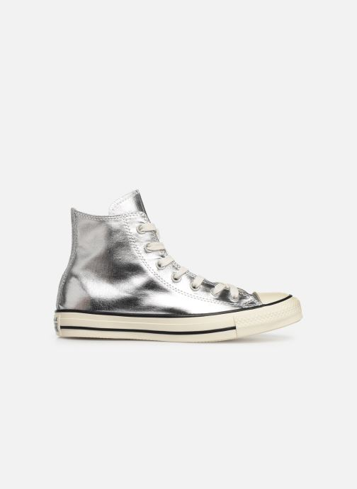 Trainers Converse Chuck Taylor All Star Shiny Metal Hi Silver back view